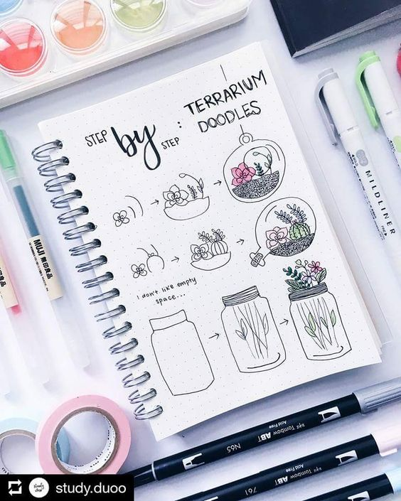 doodles, organization, and planner image