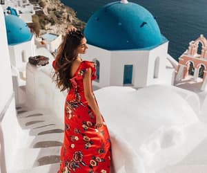 beautiful, girl, and Greece image