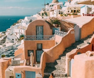 beautiful, playa, and santorini image