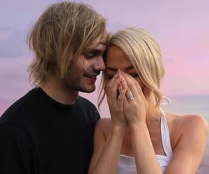 couple, engaged, and luke hemmings image