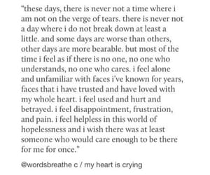 heartbreak and quote image
