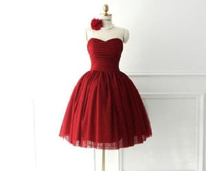 ball gown prom dress, burgundy prom dress, and homecoming dresses short image