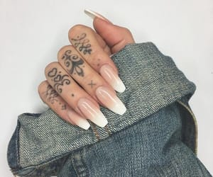 nails, beauty, and Tattoos image