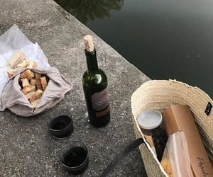 wine, aesthetic, and bread image