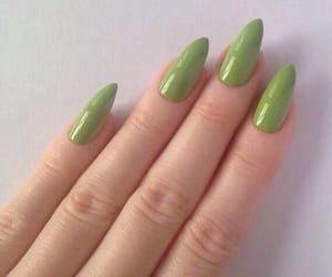 green, nails, and nail art image