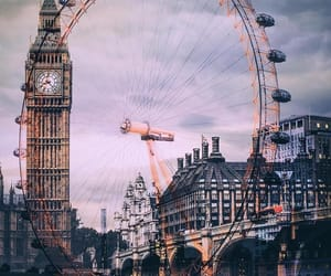 Big Ben, british, and london eye image