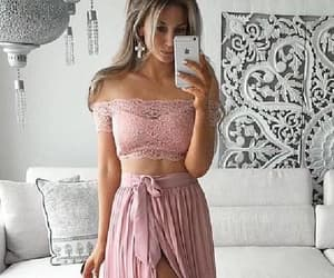 evening dress lace, prom dress two piece, and sexy evening dress image