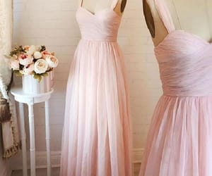 prom dress, prom dress long, and evening dresses pink image