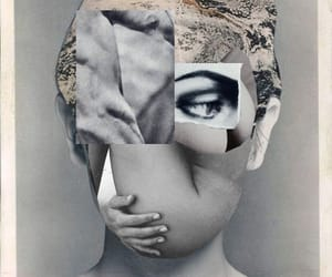 art, Collage, and grey image