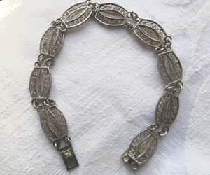 etsy, vintage bracelet, and silver filigree image