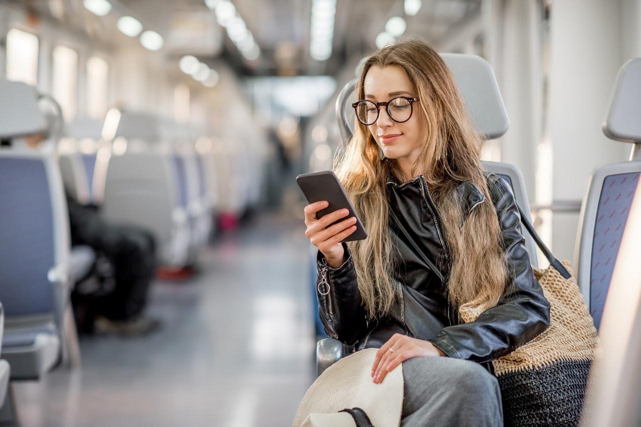 girl, travel, and mobile image