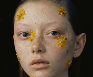 eyes, flowers, and model image
