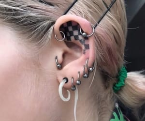 accessories, earrings, and ear image