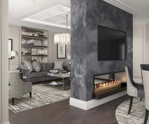 decor, dream home, and fireplace image