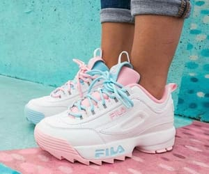Fila, blue, and pink image
