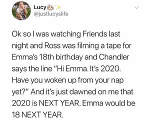 2020, chandler bing, and 90's image