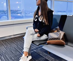 airplane, airport, and fashion image