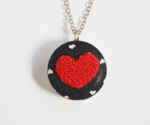 embroidery, etsy, and red heart image