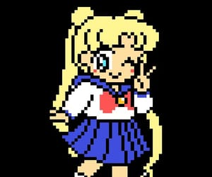 pixel, png, and sailor moon image