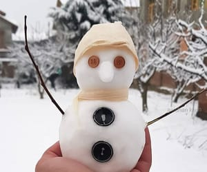 adorable, snow, and snowman image