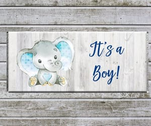 baby shower favors, candy wrappers, and instant download image
