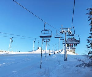 elevator, finland, and Skiing image