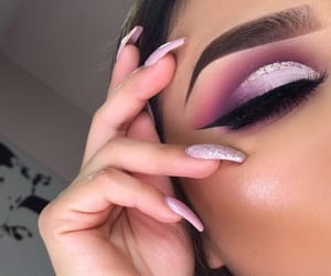beauty, glow, and eyes image