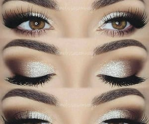 fashion, girly, and prom makeup image