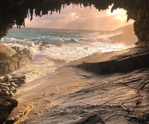 beach, beautiful, and mother nature image