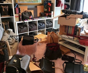 bags, purse, and walking closet image