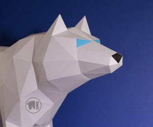 crafting, papercraft, and dire wolf image