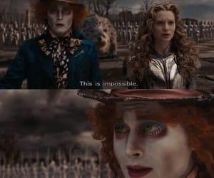 alice in wonderland, johnny depp, and mia wasakowska image