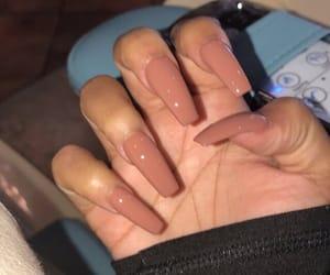 acrylic, nails, and girl image