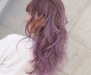 color, hair, and violeta image