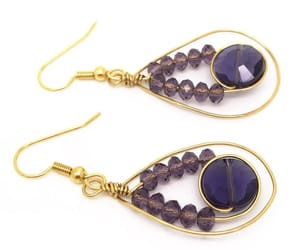 etsy, lilac jewelry, and purple jewelry image
