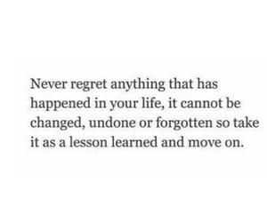 lesson, life, and move on image