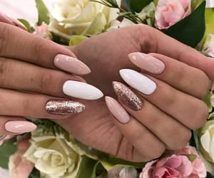 beige, nails, and idea image