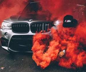 car, bmw, and red image