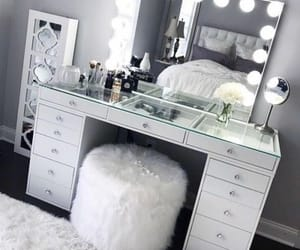 makeup, white, and mirror image
