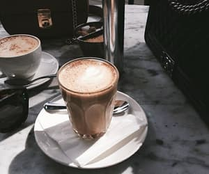 blue, coffee, and theme image