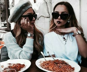 girl, food, and fashion image