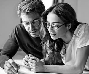black&white and couple image