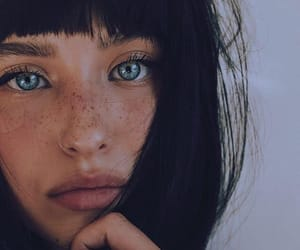freckles and girl image