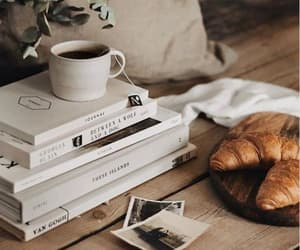 books, coffee, and cozy image