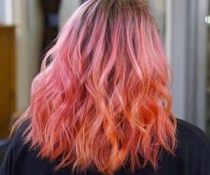 hair, peachy, and pink image
