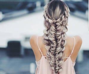 belleza, moda, and trenza image