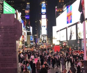 new york, times square, and wallpaper image