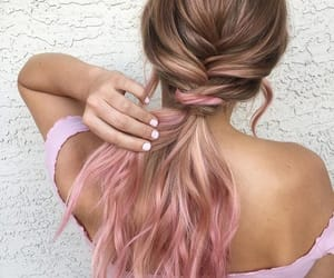 blonde, braided hair, and hair color image
