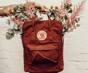 flowers, backpack, and bag image