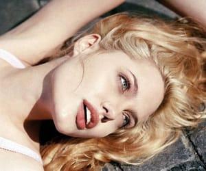 Angelina Jolie, blonde, and lips image